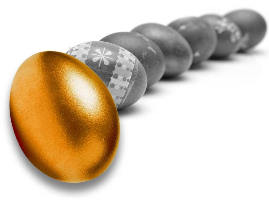 Trouvez les œufs dorés !